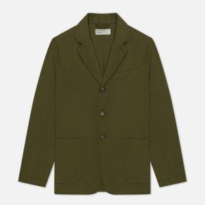 Мужской пиджак London Twill Universal Works. Цвет: оливковый
