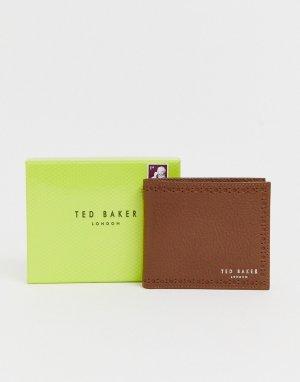 Светло-коричневый бумажник с декоративной перфорацией Cobler Ted Baker