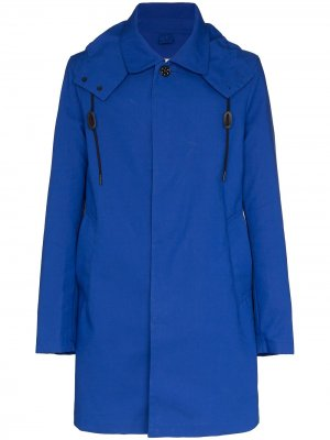 Пальто Portland с капюшоном Loreak Mendian. Цвет: синий