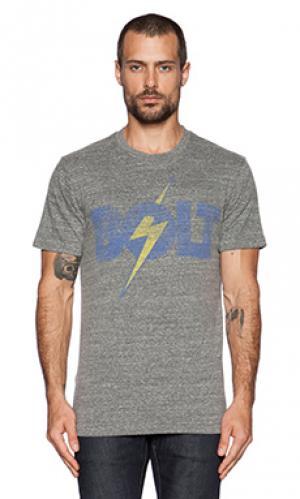 Футболка с рисунком bolt Lightning. Цвет: серый