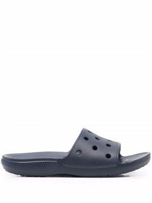 Шлепанцы с вырезами Crocs. Цвет: синий