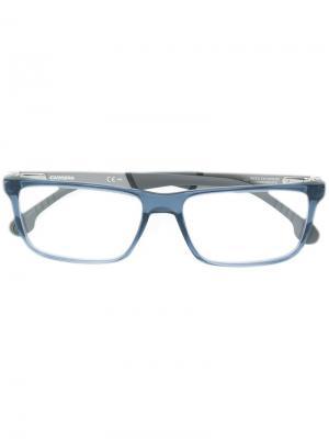 Очки в оправе прямоугольной формы Carrera. Цвет: синий
