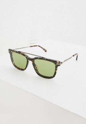Очки солнцезащитные Jimmy Choo ZED/G/S 086 GREEN. Цвет: коричневый