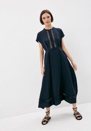 Платье High. Цвет: синий