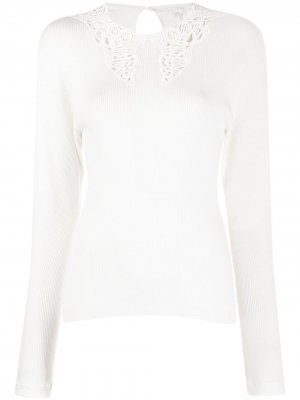 Broderie anglaise fine-knit top Chloé. Цвет: белый
