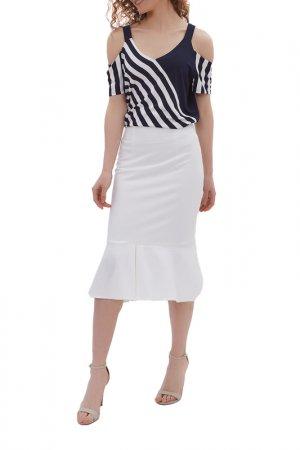 Комплект: блузка, юбка Argent. Цвет: мультиколор