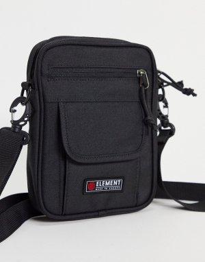 Черная сумка-кошелек через плечо Road-Черный цвет Element