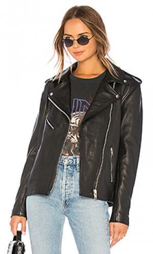 Кожаная куртка Understated Leather. Цвет: черный