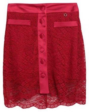 Мини-юбка RELISH. Цвет: красно-коричневый