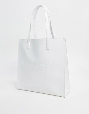 Большая сумка цвета слоновой кости с логотипом mickon-Белый Ted Baker