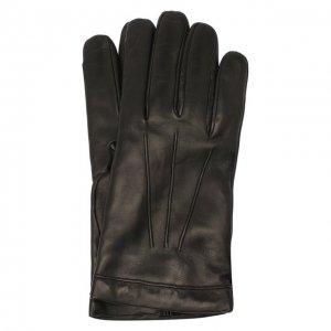 Кожаные перчатки Moreschi. Цвет: чёрный