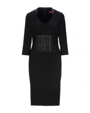 Платье до колена ÉCLÀ. Цвет: черный