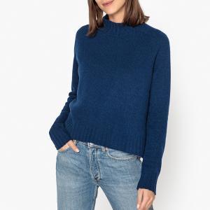 Пуловер с воротником-стойкой из кашемира LA BRAND BOUTIQUE COLLECTION. Цвет: темно-синий