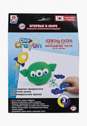 Набор для творчества 1Toy Clay Crayon тесто-мелков Инопланетянин (3 цвета по 30 гр). Цвет: разноцветный