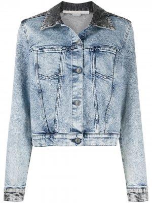 Двухцветная укороченная джинсовая куртка Stella McCartney. Цвет: черный