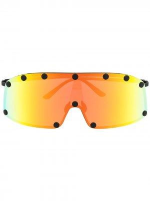 Солнцезащитные очки Shielding Rick Owens. Цвет: черный