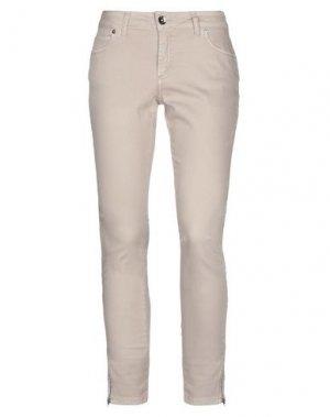 Джинсовые брюки LIST. Цвет: песочный