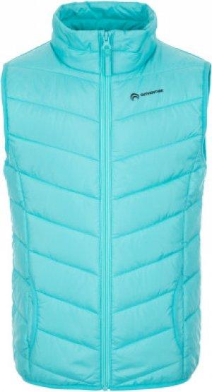 Жилет утепленный для девочек , размер 164 Outventure. Цвет: голубой