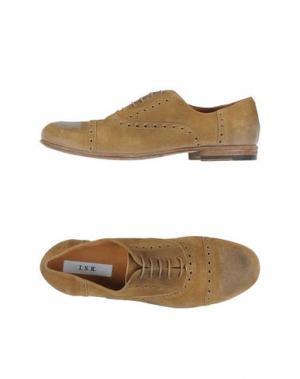 Обувь на шнурках INK. Цвет: песочный