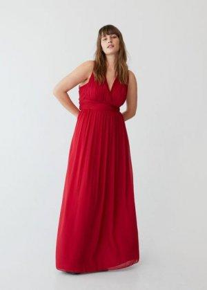 Длинное платье с вырезом на спине - Tina Mango. Цвет: красный