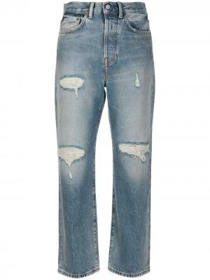 Укороченные джинсы Mece прямого кроя Acne Studios. Цвет: синий