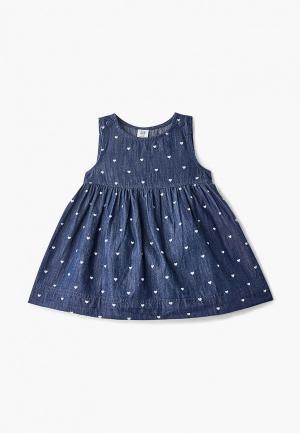Платье джинсовое Gap. Цвет: синий