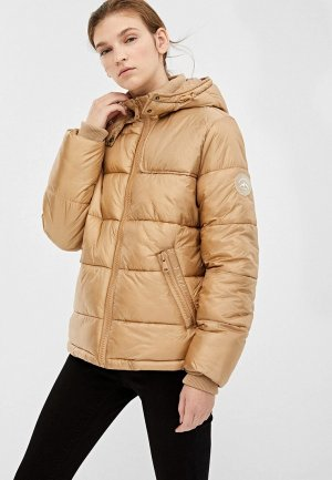 Куртка утепленная Springfield. Цвет: бежевый