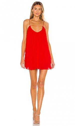 Мини платье sylvia superdown. Цвет: красный
