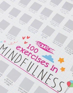 Скретч-постер с заданиями для повышения осознанности на 100 дней -Черный Menkind
