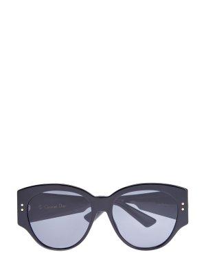 Солнцезащитные очки LadyDiorStuds2 с заклепками DIOR (sunglasses) women. Цвет: черный