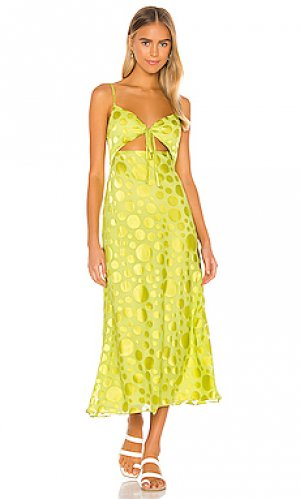 Платье felicity Lovers + Friends. Цвет: зеленый