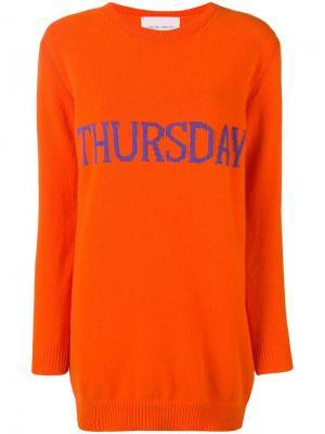 Платье-свитер Thursday Alberta Ferretti. Цвет: оранжевый