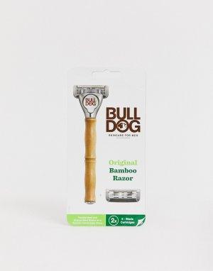 Бритва с бамбуковой ручкой original-Бесцветный Bulldog