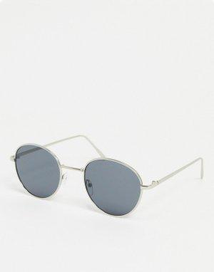 Круглые солнцезащитные очки -Черный Only & Sons