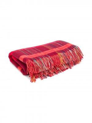 Одеяло 1990-х годов в клетку Hermès. Цвет: красный
