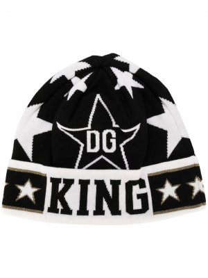 Шапка бини DG Star King Dolce & Gabbana. Цвет: черный