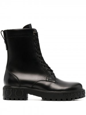 Ботинки на шнуровке Salvatore Ferragamo. Цвет: черный
