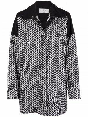 V-logo pattern jacket Valentino. Цвет: черный
