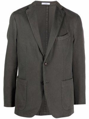 Пиджак узкого кроя Boglioli. Цвет: зеленый