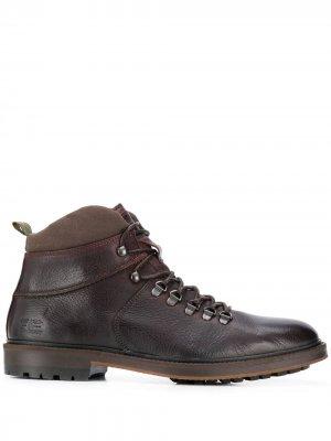 Ботинки на шнуровке Barbour. Цвет: коричневый