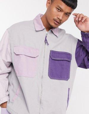 Джинсовая куртка в стиле колор-блок-Мульти Bershka