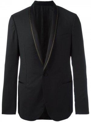 Пиджак с лацканами-шалька LANVIN. Цвет: черный