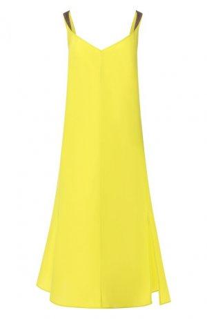 Шелковое платье Rag&Bone. Цвет: зелёный