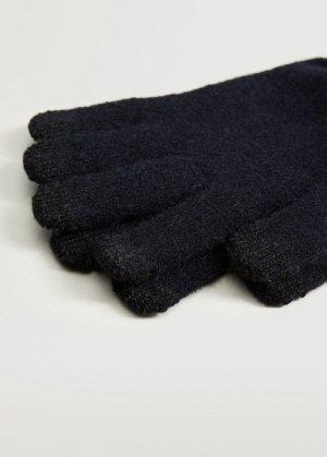 Сенсорные перчатки из трикотажа - Touch Mango. Цвет: темно-синий