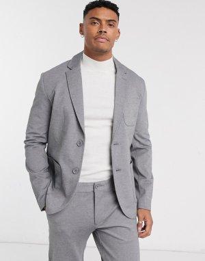 Серый свободный пиджак Only & Sons