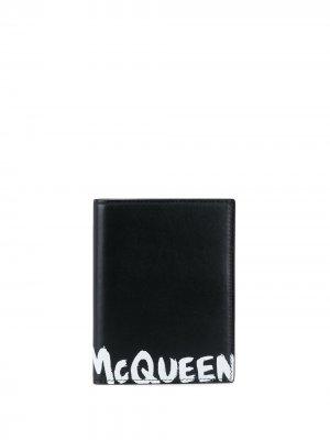 Картхолдер с принтом граффити Alexander McQueen. Цвет: черный