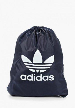 Мешок adidas Originals GYMSACK TREFOIL. Цвет: синий