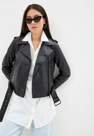 Куртка кожаная Oakwood SHOW. Цвет: черный