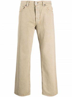Прямые брюки Acne Studios. Цвет: нейтральные цвета