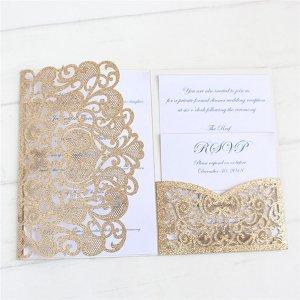 1 набор свадебная пригласительная открытка SHEIN. Цвет: многоцветный